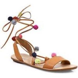 NEW! Loeffler Randall Pom Pom Sandals